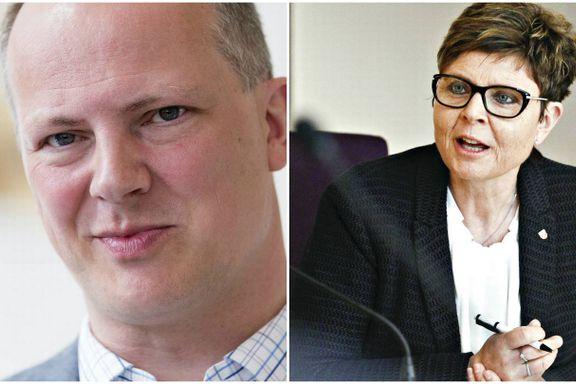 Isfront etter treff med samferdselsministeren