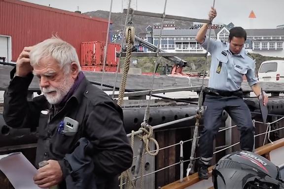 Den kjente eventyreren fikk politiet om bord. Nå har turen til Grønland fått rettslig etterspill.