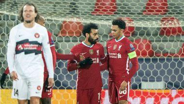 Salah passerte klubblegende – men Liverpool snublet mot dansk lag