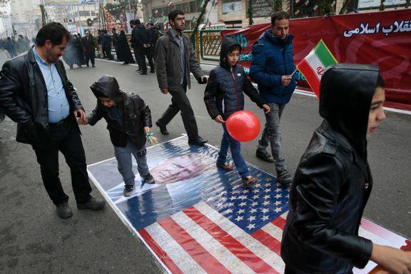 Trump ber Irans president passe seg