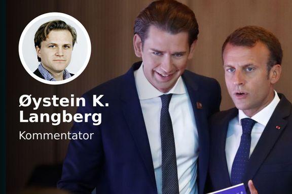 I fjor ble begge genierklært. Nå er liberale Macron i trøbbel, mens mørkeblå Kurz har suksess.
