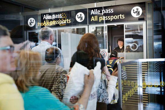 Opptil to timers kø i passkontrollen på Gardermoen