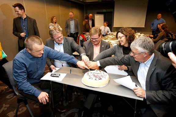 Ordførerne på Sørlandet spiste kake for sammenslåing - får klart nei fra folket