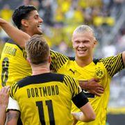 Haaland-show: To mål og tre assists da Dortmund knuste Hauges Frankfurt