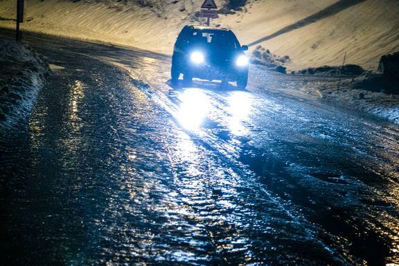 Obs-varsel om glatte veier i syv fylker i Sør-Norge