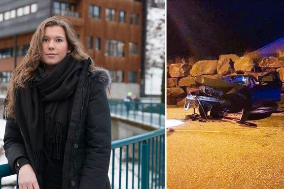«Ser ut som en dødsulykke» sto det på hennes mobil. Bildene viste at lillebrorens bil var totalvraket.