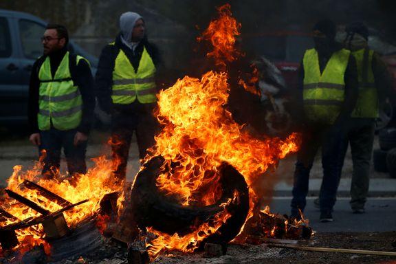 Fransk protest mot bensinpriser: Én er død og 409 er skadet