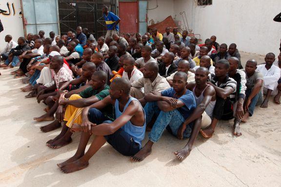 Migranter sperres inne i Libya