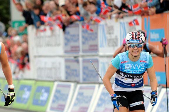 Maiken Caspersen Falla har vunnet sprinten i Sandnes flere ganger - i kveld måtte hun se seg slått
