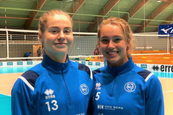 Barndomsvennene Aurora og Madelen (16) var på banen da Tromsø-laget trygget tabelltoppen
