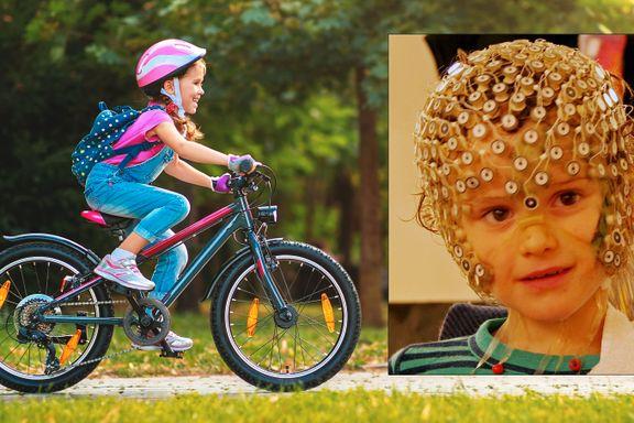 Med 256 sensorer målte forskerne hvordan barn feilberegner fart i trafikken