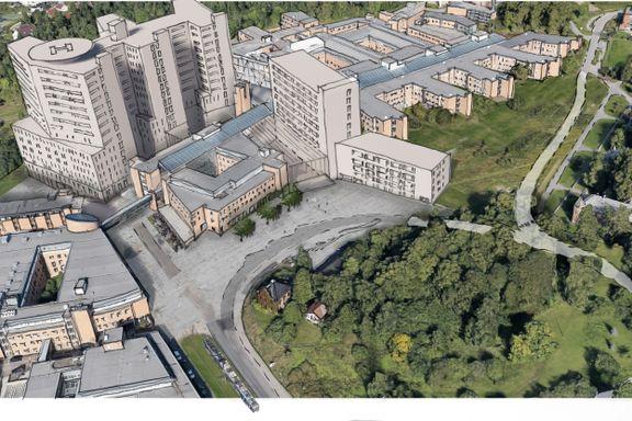 Kritikere advarer mot «trang tomt». Her skal Oslos nye storsykehus bygges.
