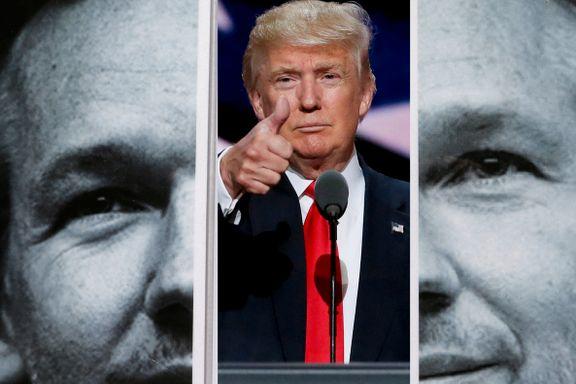 «Jeg bare elsker å lese avsløringene fra Wikileaks», sa Donald Trump. Men det var før. Nå vil USA stille Assange for retten.