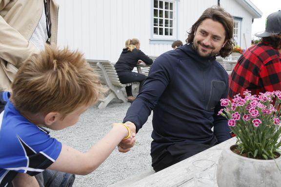 Håkon (12) fikk møte «Zucca»: – Skal aldri vaske hånden min igjen!