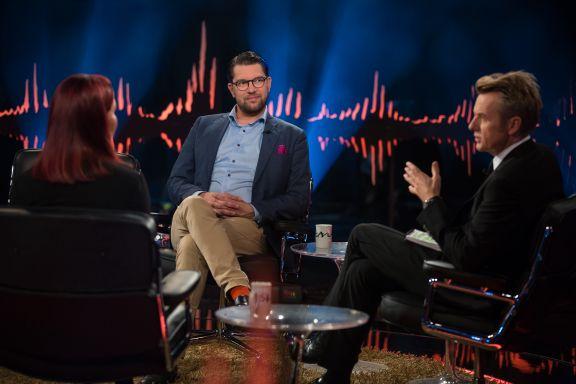 Sverigedemokraternas leder på Skavlan: Det pågår en kulturkrig i Sverige