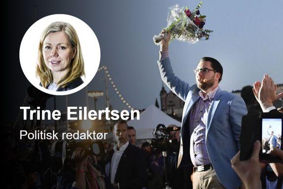 Jimmie Åkesson var et problem for Alliansen under valgkampen. Problemet har bare vokst etter valget.