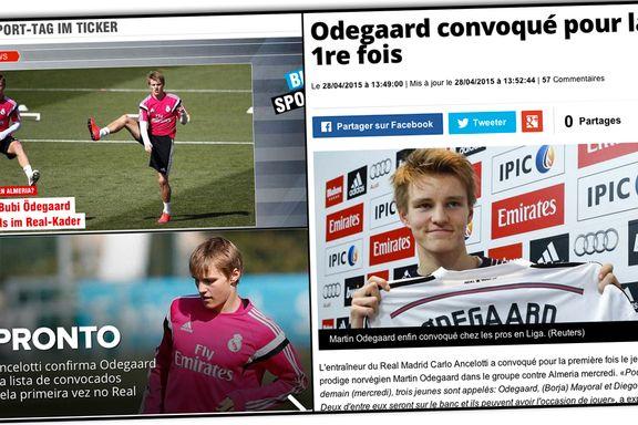 Ødegaard-nyheten går verden rundt