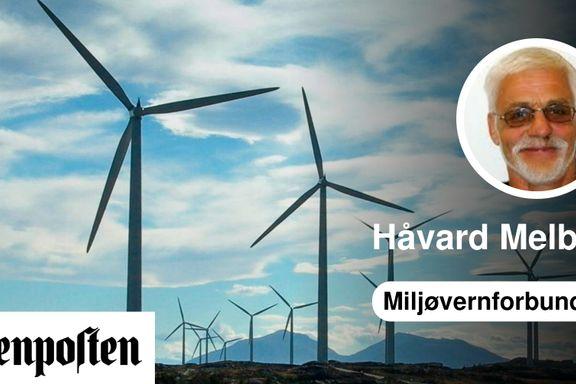 Vindkraft vil beviselig øke utslippene   Håvard Melbye