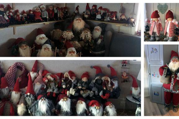 Hos Gerd er det ikke jul uten nisser – mange nisser