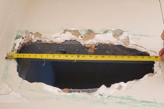 To drapssiktede rømte gjennom hull i taket