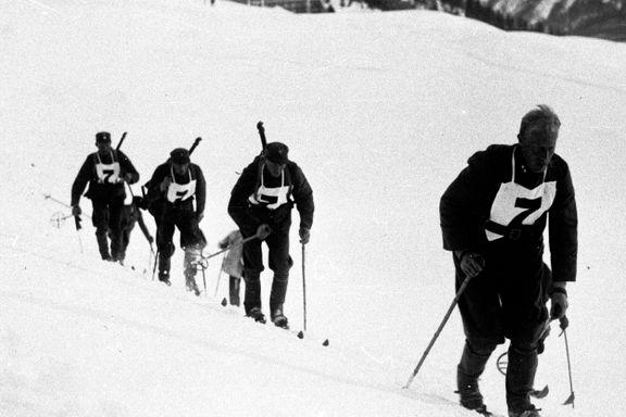 Forløperen til skiskyting: OL-utøverne måtte klatre 1000 meter på ski og skyte ballonger