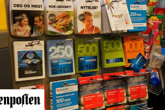 Gavekort finnes bare for at butikker skal tjene penger    Marte Andrine Aschim Gundersen