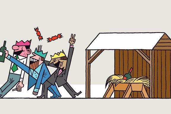 - Jesus er ikke med lenger. Det er ingen julekrybber på Steen og Strøm.