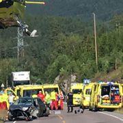 Alvorlig trafikkulykke i Telemark – tre personer fraktet med luftambulanse til Ullevål sykehus