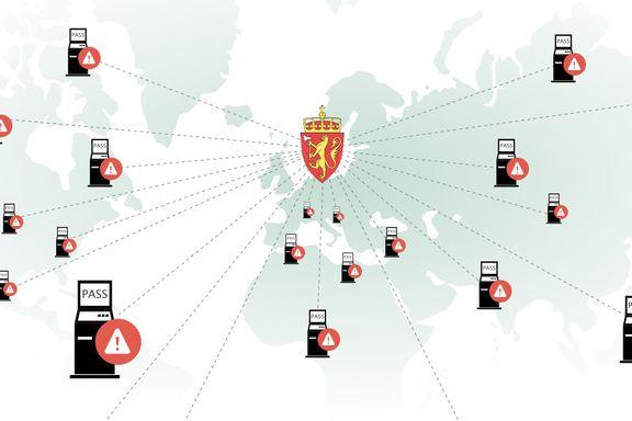 Politiets pass- og ID-kort-prosjekt: Har kjøpt 85 splitter nye passkiosker som er sendt til norske ambassader. Kun én er i ordinær bruk.