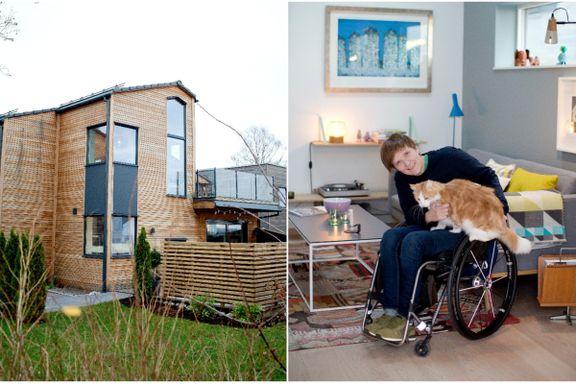 Gunhild Bottolfsen valgte å bygge hus over tre etasjer – til tross for at hun sitter i rullestol.