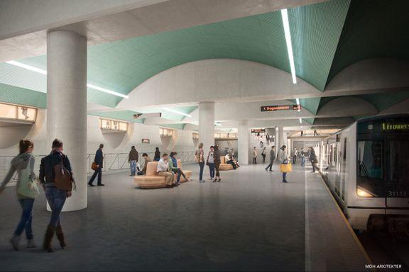 T-banestasjonen skal koste mer enn 5 mrd. Bompenger skal betale mye av regningen.
