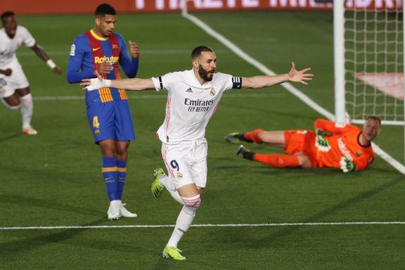 Høydramatisk da Real Madrid inntok tabelltoppen