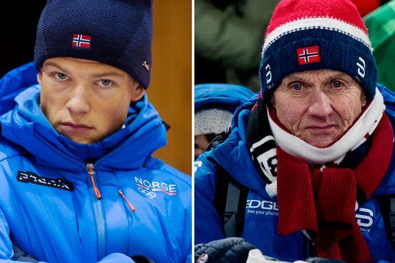 Slik ser morfar for seg at Klæbo avgjør stafetten for Norge
