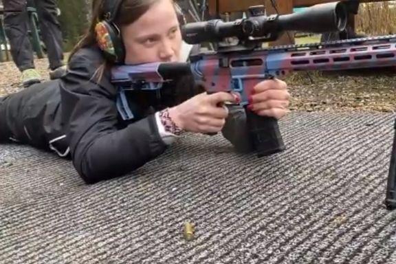 Nei, dette er ikke Greta Thunberg på skytebanen