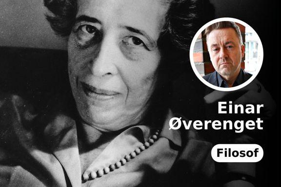 Det diskuteres om Hannah Arendt skal inn på pensum til Examen Philosophicum. Jeg svarer ja. Absolutt.