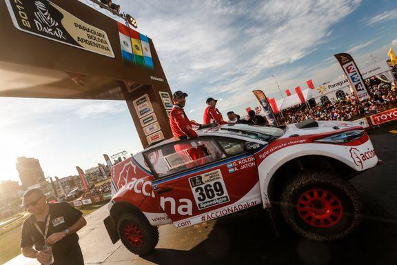 Første elbil som fullfører Dakar-rallyet