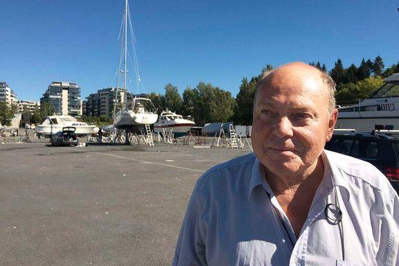 Her, på båtopplagstomten på Skøyen, kan det komme 1300 boliger