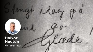Aftenpostens kommentator fant en dagbok på loftet: « Endelig! Dagen er kommet.»
