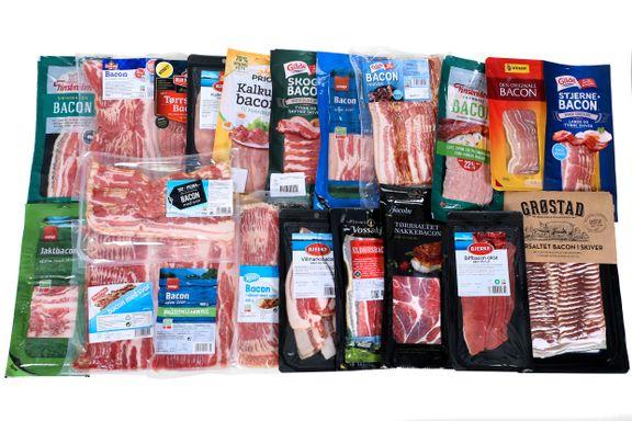 Test av bacon: Stor forskjell på fettinnholdet