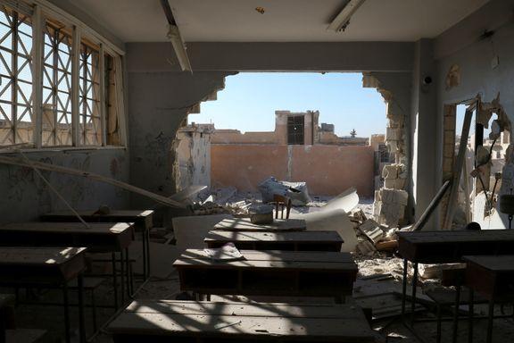 22 barn drept da skole ble bombet utenfor Aleppo