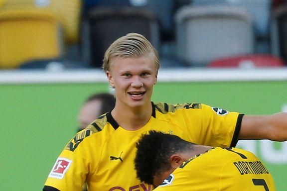 Det gikk mot en frustrerende kveld for Dortmund. Så fikk Haaland en siste mulighet.