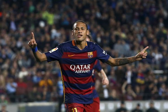 Neymar scoret fire mot Rayo Vallecano