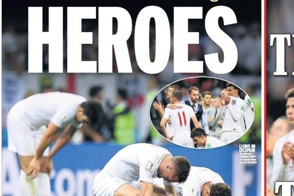 Englands VM-drøm ble knust igjen - men spillerne hylles i hjemlig presse
