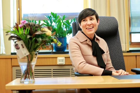 Taus om lederambisjoner i Høyre. Nå blir hun utenrikssjef på Tinget.