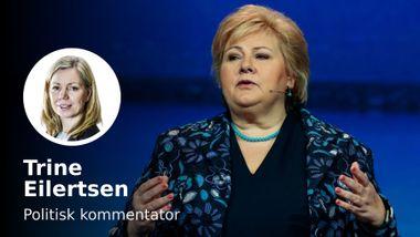 Erna Solberg nevnte ikke de andre med ett ord