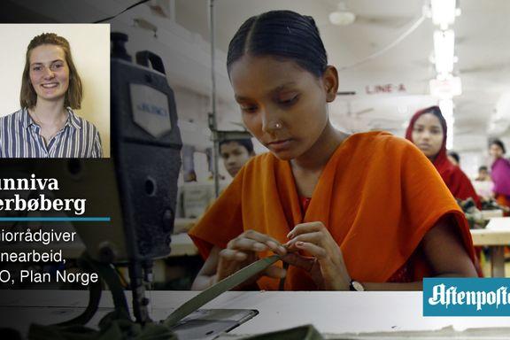 Jeg googlet «Hvordan stanse barnearbeid?». Det ga meg 4000 resultater. | Sunniva Nerbøberg (17)