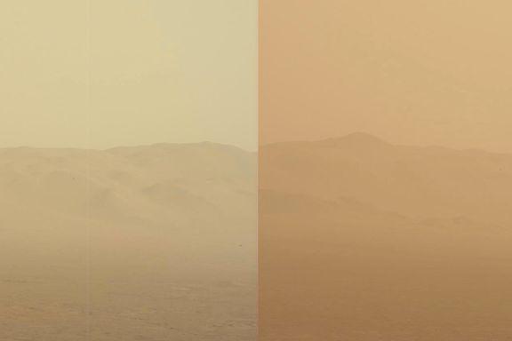 Sandstorm dekker en fjerdedel av Mars