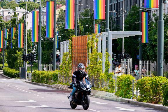 Regnbueflagg er revet ned flere steder i landet: – Representerer et hat vi vet finnes