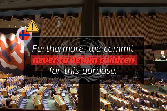 Slik jobbet Norge for å endre FN-teksten og unngå forpliktelser om aldri å fengsle barn