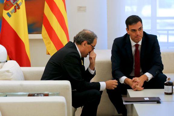 Spanias statsminister møter den katalanske lederen etter turbulent tid